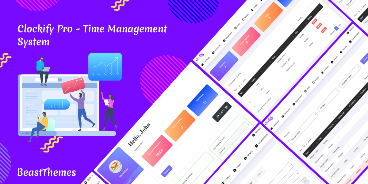 Clockify pro - Time Management System