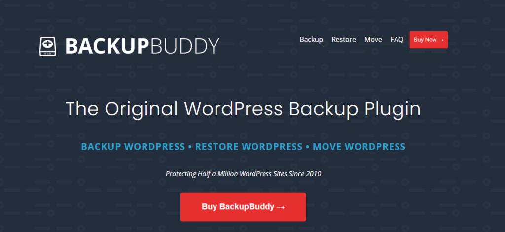 WordPress backup plugin - BackupBuddy