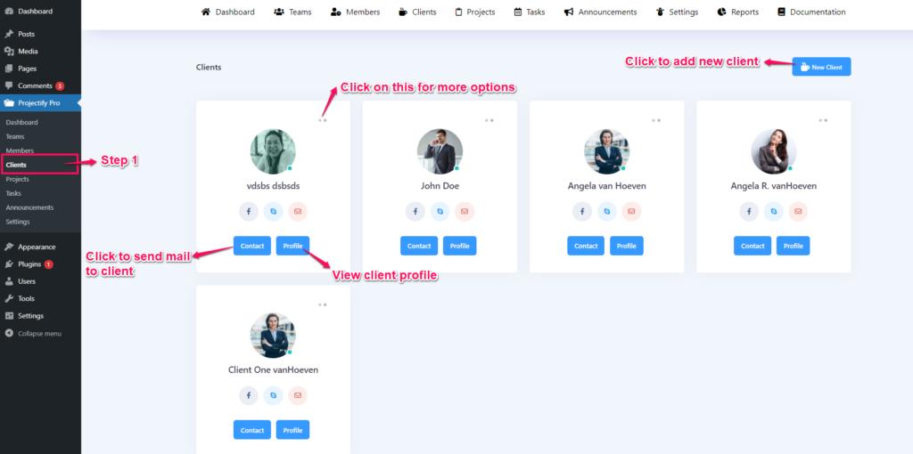 Project management system - client