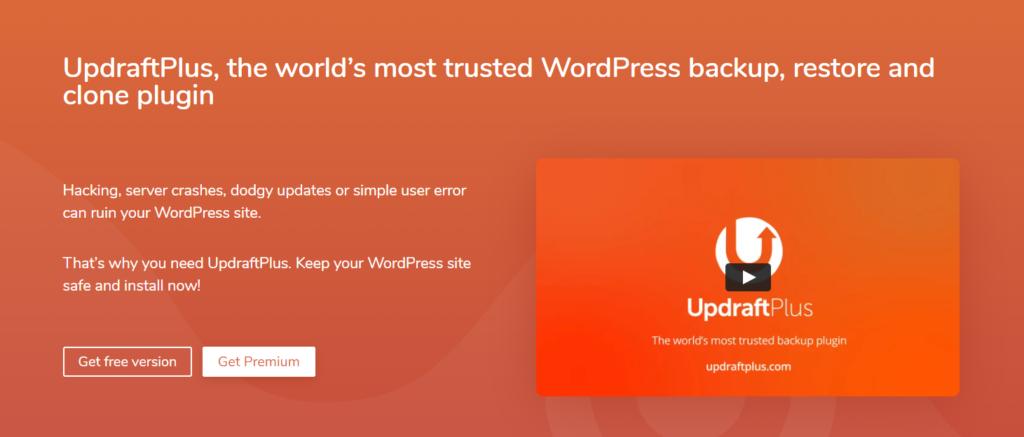 WordPress backup plugin - UpdraftPlus