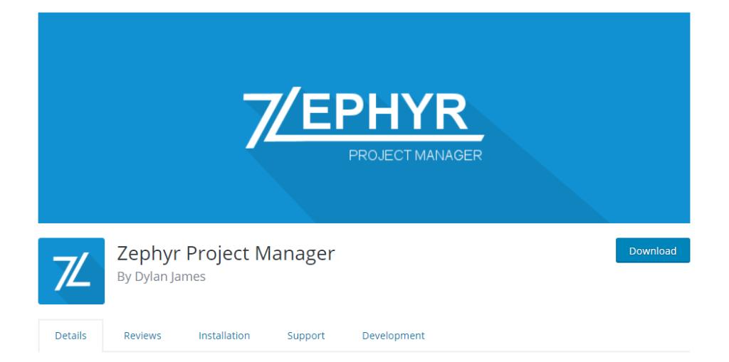 WordPress Project Management Plugins - Zephyr